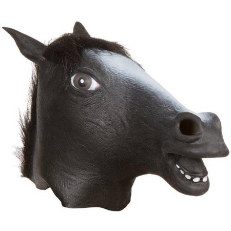 Giant Animal Masks, Horse Head Costume Mask By Allures and Illusions, Black
