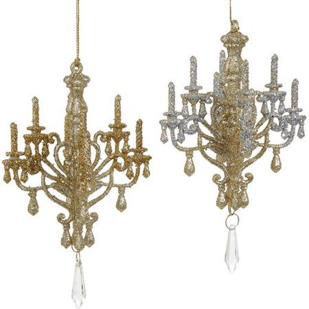 2 assorted platinumsilver and goldsilver chandelier christmas tree 2 assorted platinumsilver and goldsilver chandelier christmas tree ornaments aloadofball Choice Image