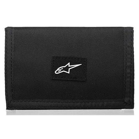 Alpinestars Wallet - Alpinestars ASTAR Logo Friction Tr-Fold Black Nylon Wallet