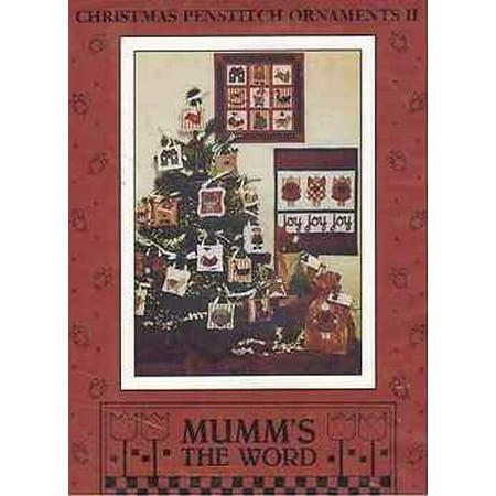 Debbie Mumm Bird - Christmas Penstitch Ornaments II by Debbie Mumm, Finished Sizes: Wallhanging 14 x 14, Joy, Joy, Joy 13x16.6 By Mumms the Word From USA