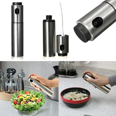 Stainless Steel Olive Oil Spraying Sprayer Bottle Dispenser Mister Spray Pump Can Pot Jar Kitchen Cooking Barbecue
