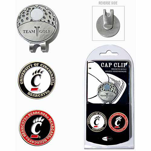 Team Golf NCAA Cincinnati Cap Clip With 2 Golf Ball Markers