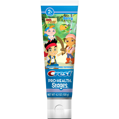 Crest Pro-Health Stages Kids Toothpaste featuring Disney Jake and the Never Land Pirates with Disney MagicTimer App by Oral-B, 4.2 oz