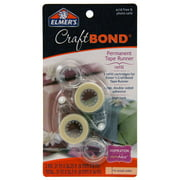 Elmer's Craft Bond High Track Permanent Tape Runner Refill, 2 Count