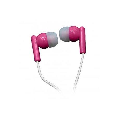Nutek Pink Stereo Earbuds
