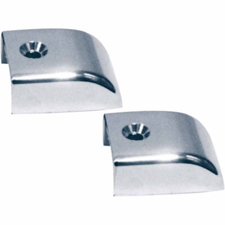 Taylor Chromed Zamak Slide Assembly End Caps, Sold as Pair