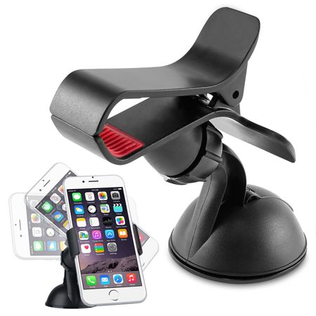 Insten Car Windshield Phone Holder Stand Mount Bracket for Smartphone Cell phone Mobile GPS