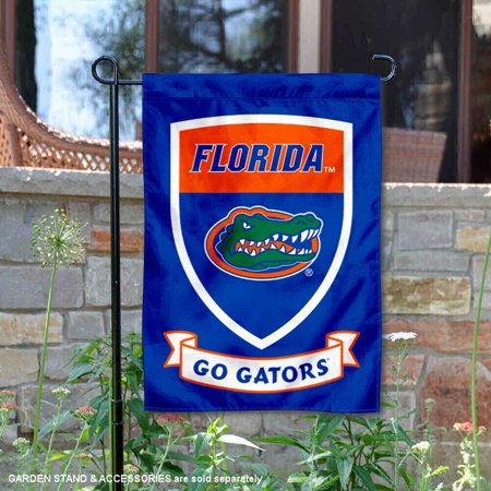 Florida UF Gators Go Gators Shield Garden - Florida Gators Garden Flag