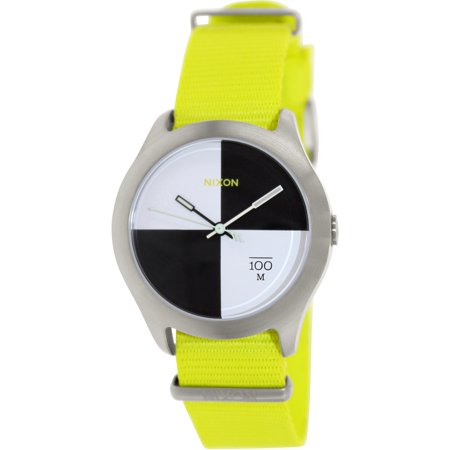 Nixon Men's Quad A3441262 Yellow Nylon Quartz Fashion Watch