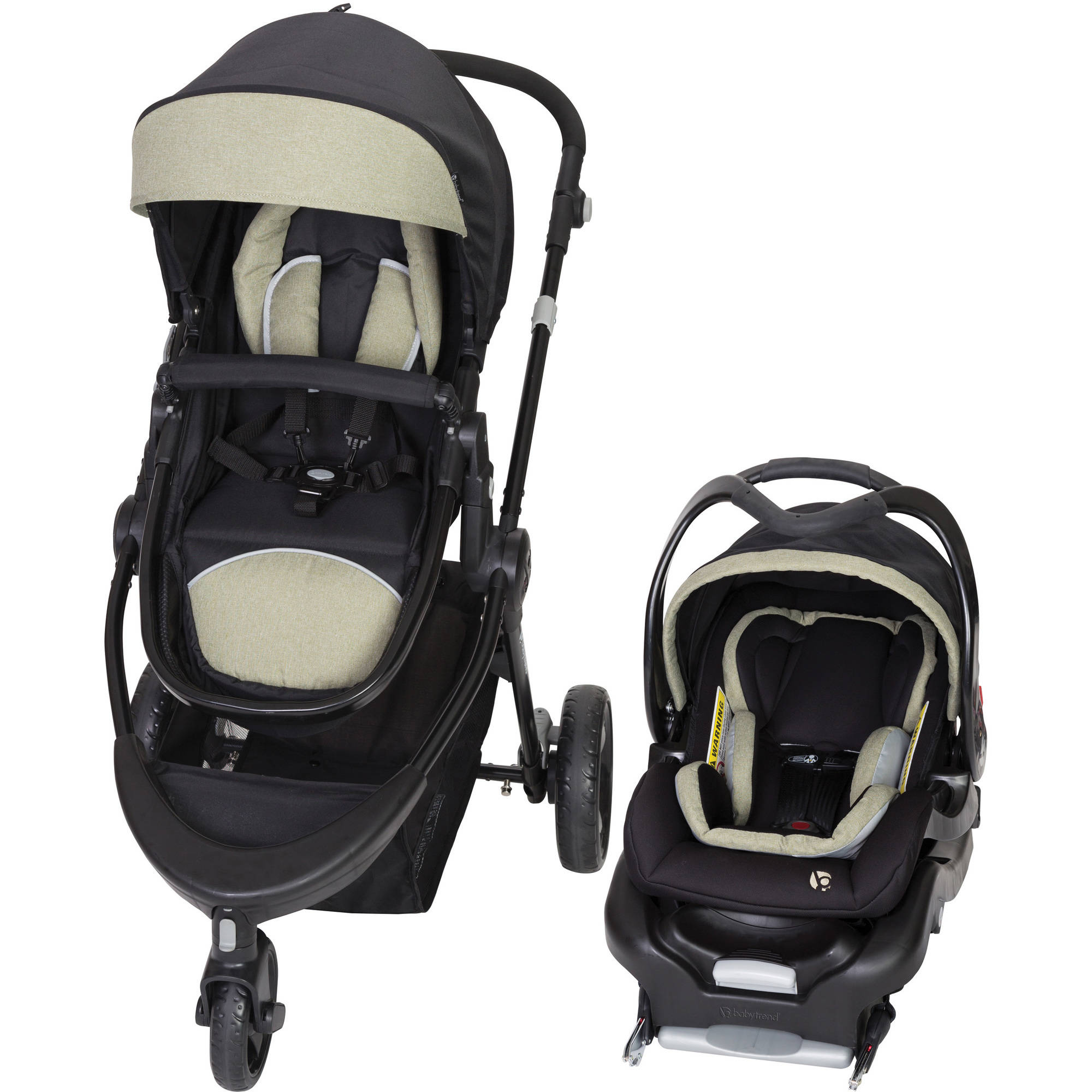 Charmant Baby Trend 1st Debut 3 Wheel Travel System, Serene Green
