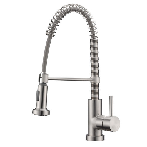 Cadell Single Handle Single Hole Kitchen Faucet With Pull Down
