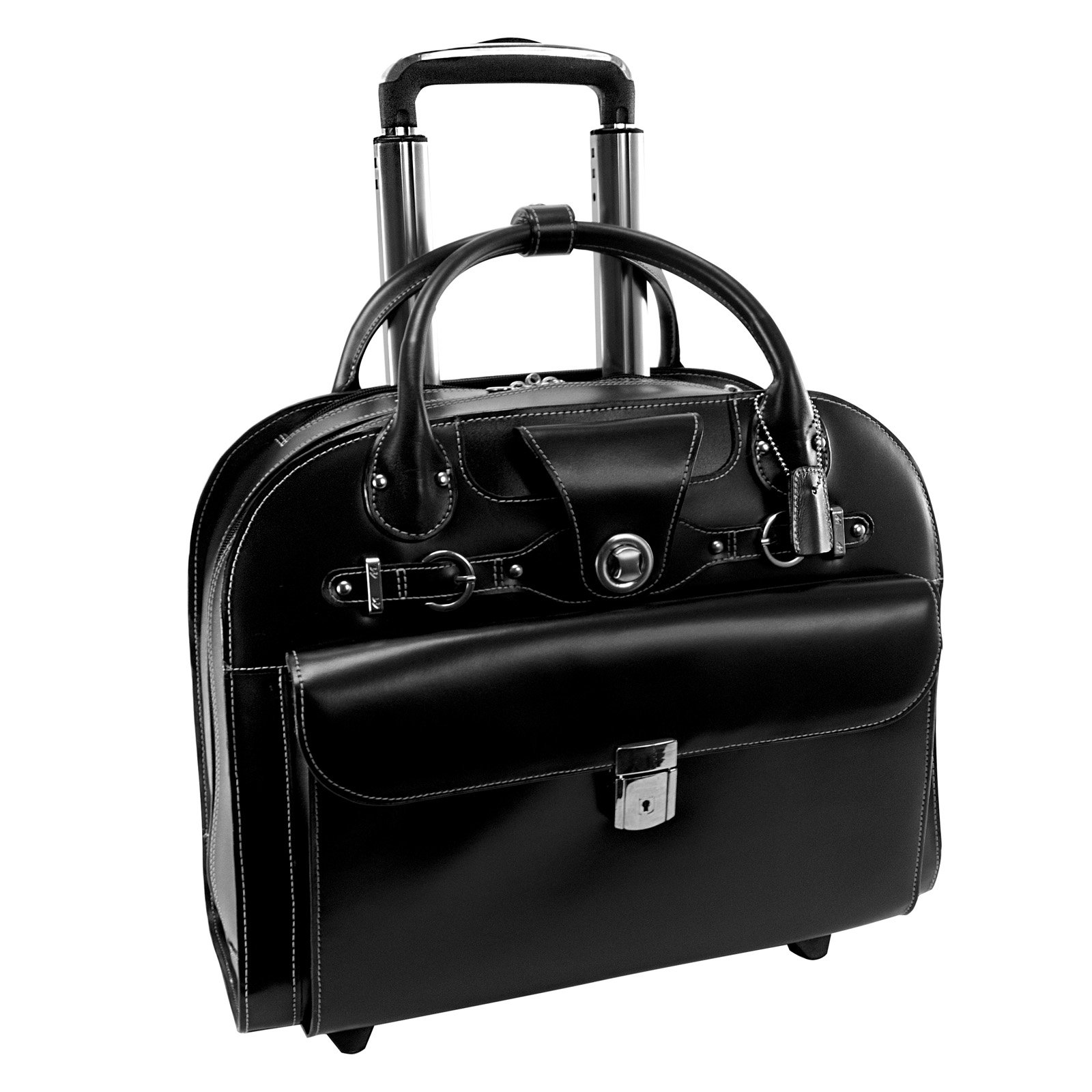 McKlein USA Edgebrook Wheeled Ladies Laptop Case - Black