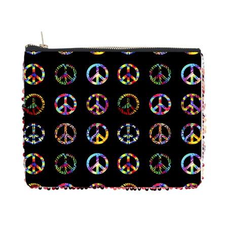 Tie Dye Peace Symbols Pattern - Double Sided 6.5