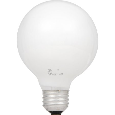 Great Value Globe Light Bulb, Dimmable, Frosted Bulb, 25W, 3