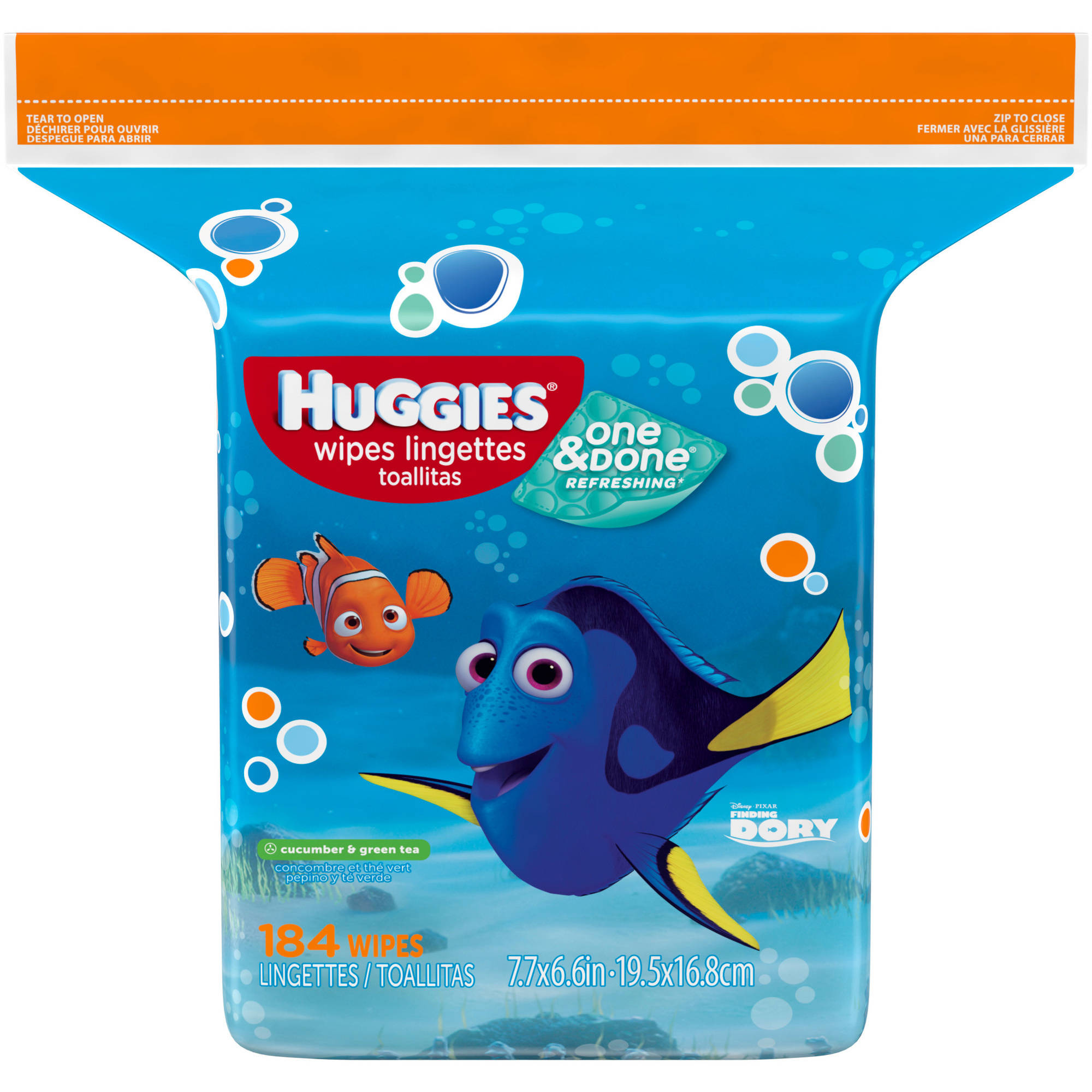 HUGGIES One & Done Naturally Refreshing Baby Wipes Refill, 184 sheets