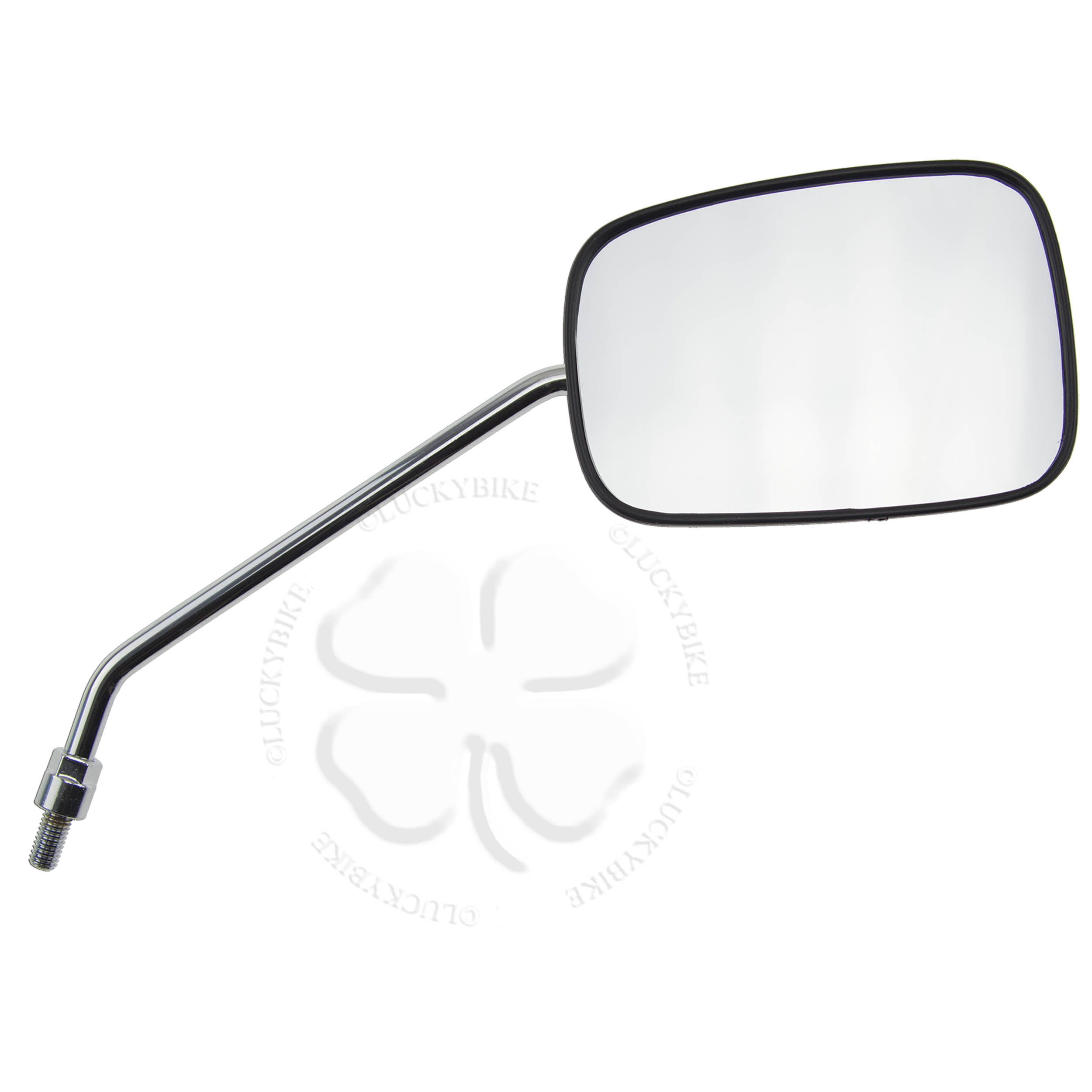 Black Oval Mirrors Mirror Set 8mm RH Thread Motorcycle Scooter Moped