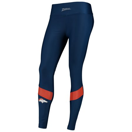 Women's Zubaz Navy Denver Broncos Colorblock Mesh Leggings