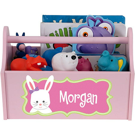 Personalized Girl Bunny Toy Caddy (Personalized Toms Shoes)