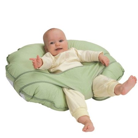 Cuddle U Nursing Pillow & More - Green Pin Dot