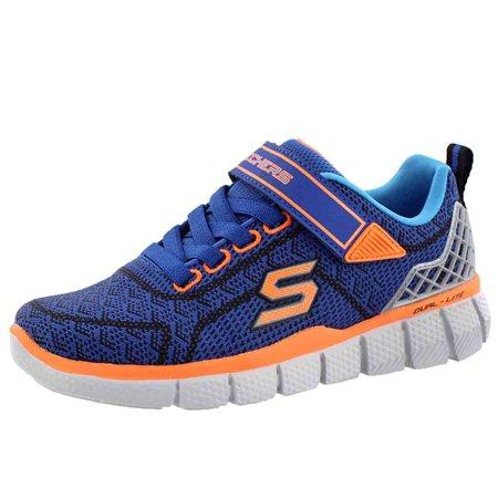 dc257eef904e Skechers Boys  Equalizer 2.0 Sneaker Blu Orng - Walmart.com