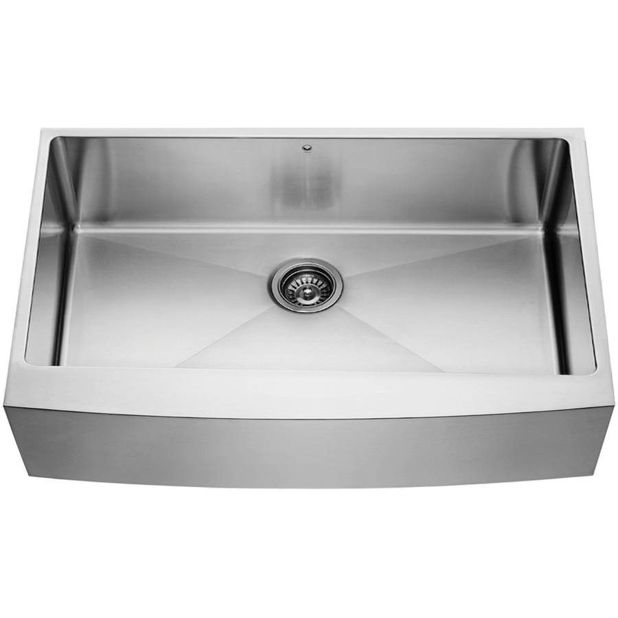 "Vigo 36"" Farmhouse Stainless Steel 16-Gauge Single Bowl Kitchen Sink by Generic"