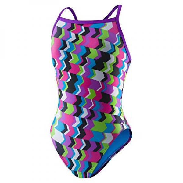 Speedo Women's Printed Propel Back Swimsuit, Geo Playtime...
