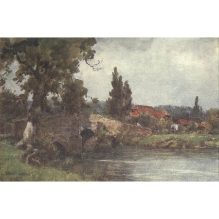 Sussex 1906 Fittleworth Bridge Poster Print By  Wilfrid Ball