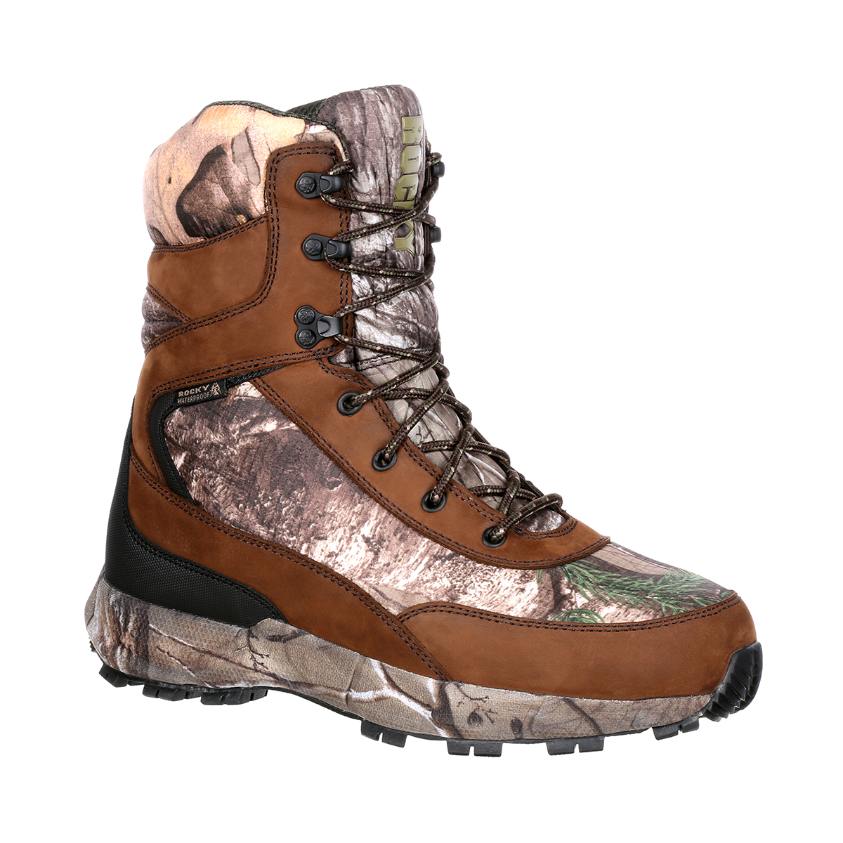 Rocky Men's 8'' Camo Hunting Outdoor Boots Camouflage Nylon Rubber 10.5 M by Rocky