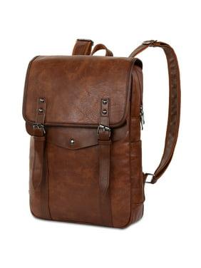47409783c9 Product Image Vbiger Men Vintage PU Leather Backpack Laptop Backpack School  Bookbag for Men