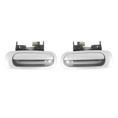 Brand New For Rear 1998-2002 Toyota Corolla Silver Exterior Outside Door Handle 2PCS 98 99 00 01 02