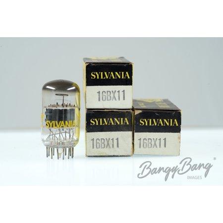 3 Vintage Sylvania 16BX11 Twin Triode Pentode Compactron Tube Valve- BangyBang Tubes