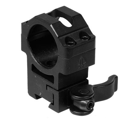 Leapers UTG Max Strength Airgun/.22 QD Rings w/ Stop Pin, Set of 2, 30mm Diam, H