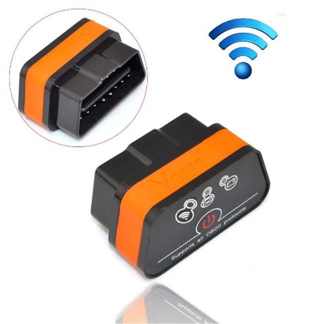 IKKEGOL 10308BOR Vgate iCar 2 Mini OBD2 OBD II WiFi Car Diagnostic Scan Tool, Black & Orange