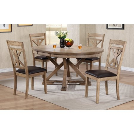 Winners Only Round Dining Table with 18 in. Butterfly Leaf