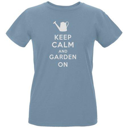 Mother's Day - Keep Calm & Garden On Women's Organic Blue T-Shirt