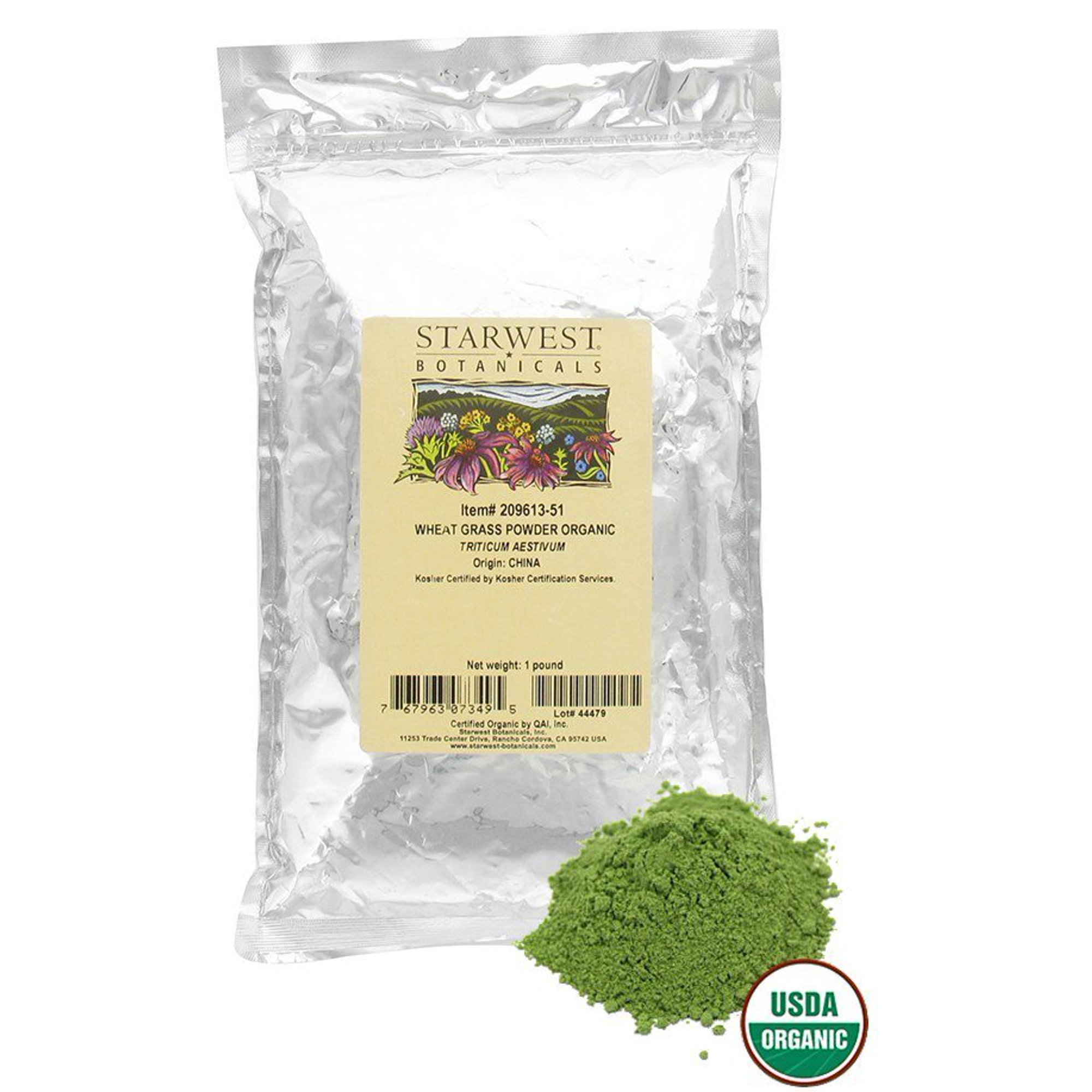 Buy Starwest Botanicals - Bulk Wheat Grass Powder Organic - 1 lb