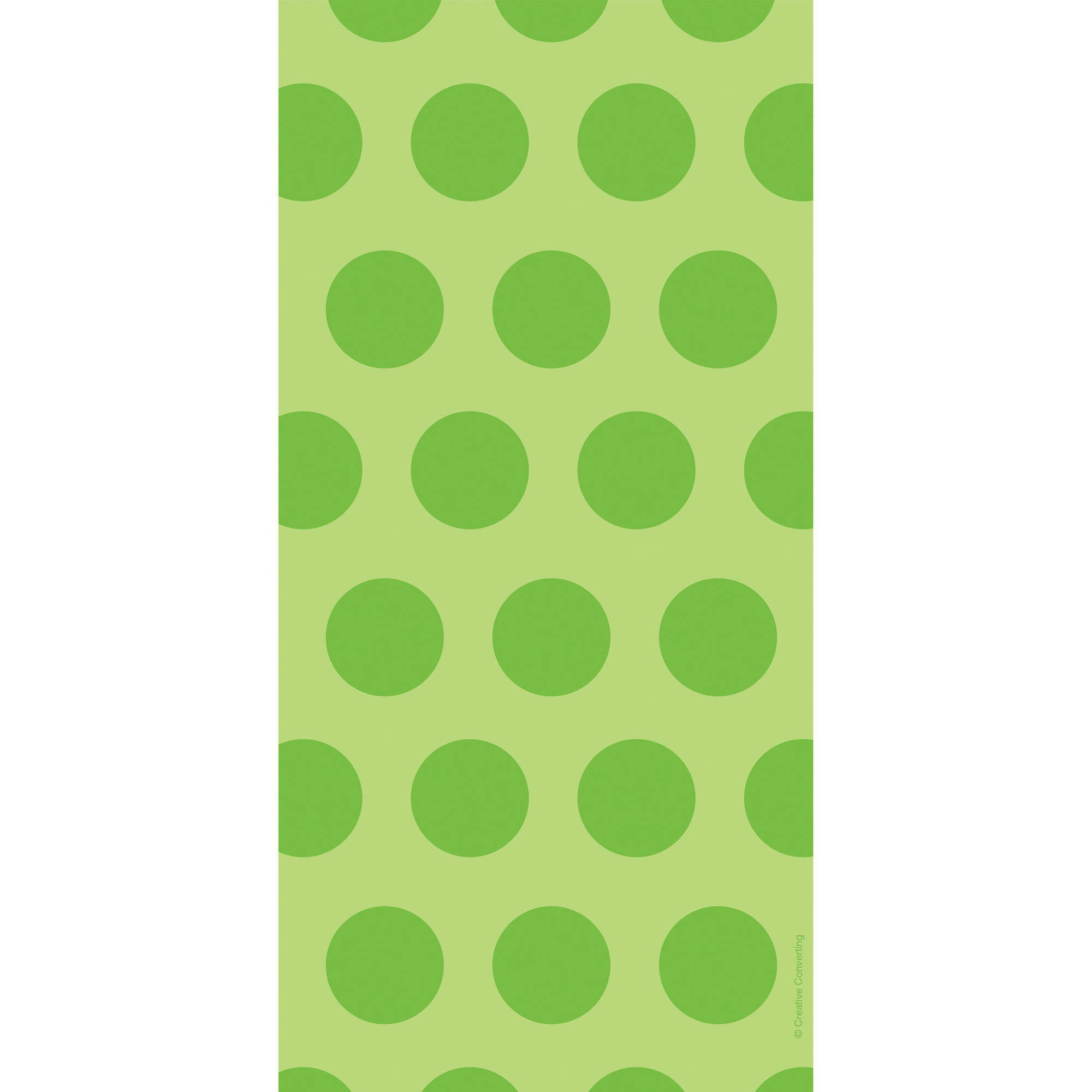 Fresh Lime Green Polka Dot Favor Bags, 20pk