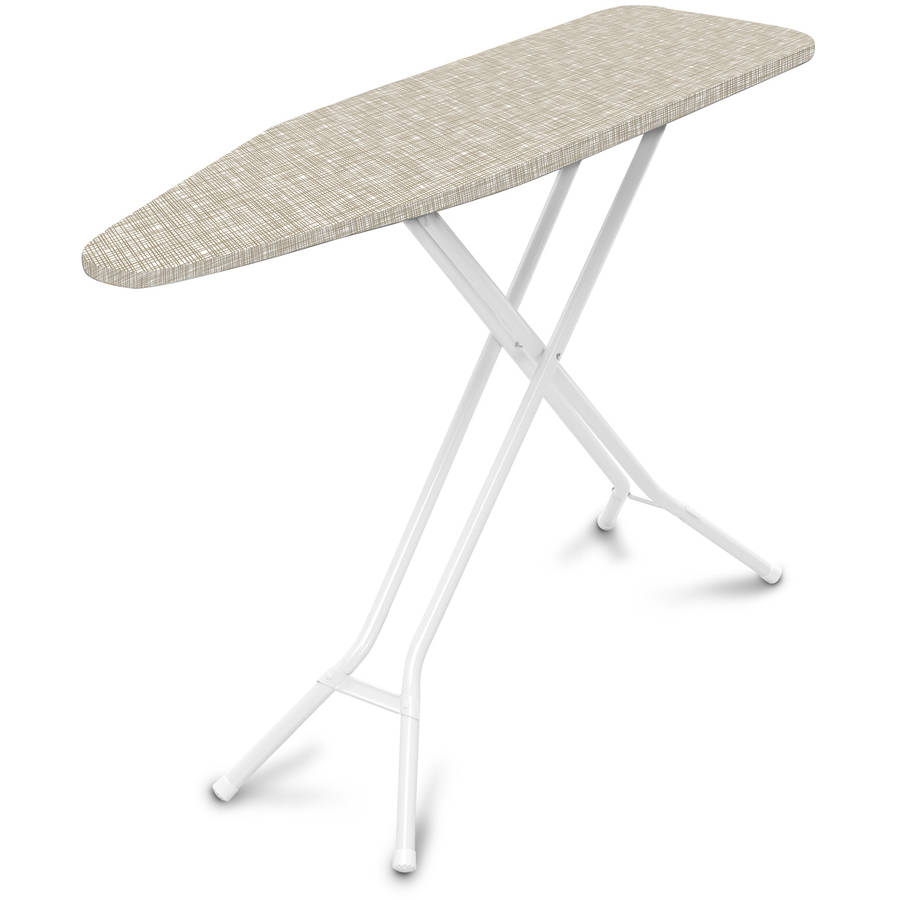 Mainstay 4 Leg Ironing Board, Nuetral Cross-Hatch Cover