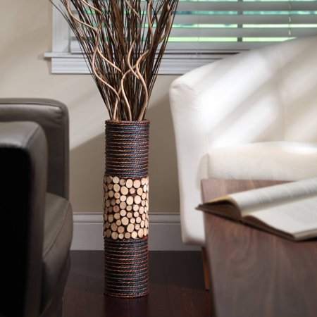 Elegant Expressions Natural Mixed Media Cylinder Vase