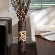 elegant expressions natural mixed media cylinder vase - Floor Vase