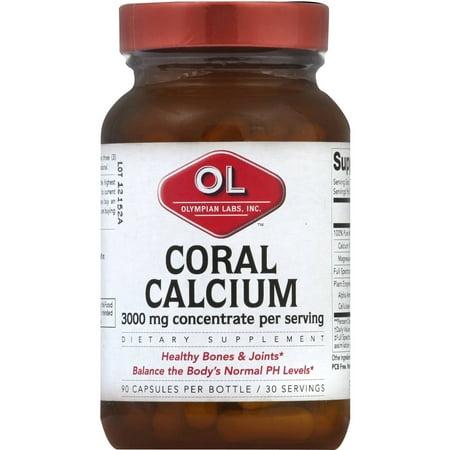 Olympian Labs calcium de corail, 3000 mg de concentré, capsules, 90 CT