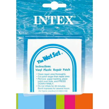 INTEX Wet Set Adhesive Vinyl Plastic Repair Patch - 6 Pack | 59631EP (Vinyl Repair Patches)