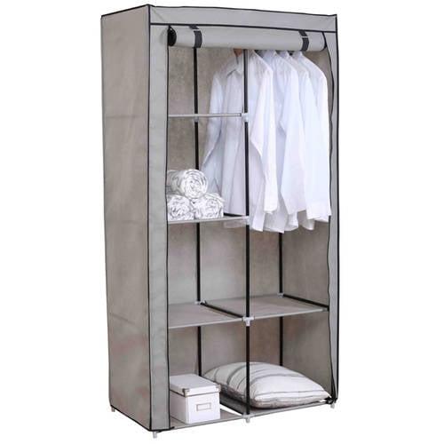 Sunbeam Storage Closet with Shelving, Grey