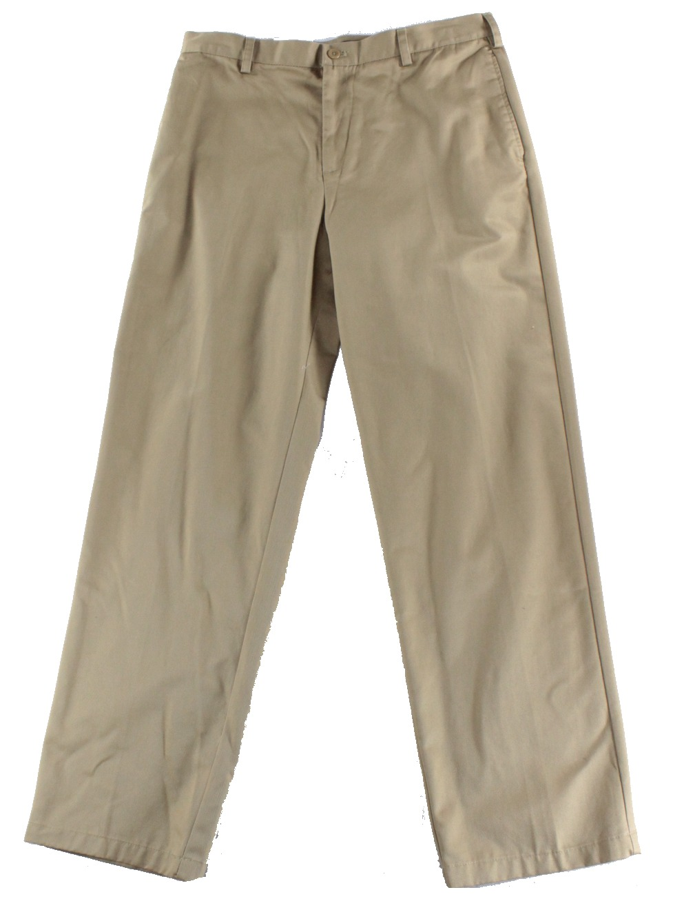 IZOD NEW Brown Mens 34x34 Wrinkle-Free Flat Front American Chino Pants
