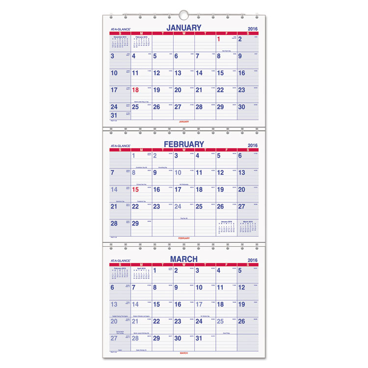 At-A-Glance Move-A-Page 3-Month Wall Calendar by ACCO Brands Corporation