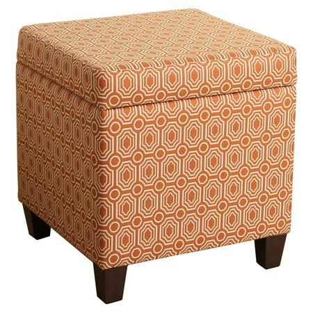 Homepop Storage Cube Ottoman Orange Walmart Com