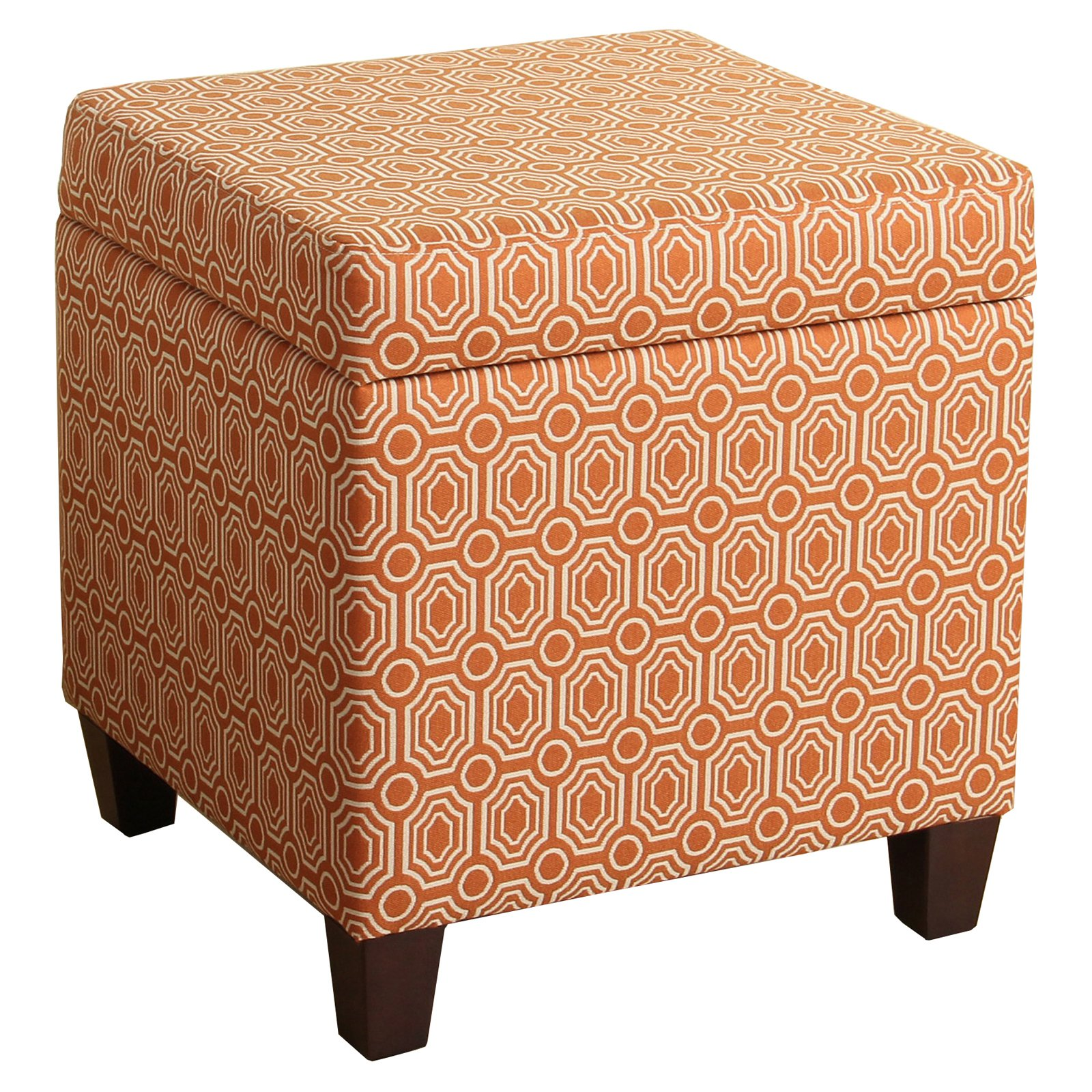 Etonnant HomePop Storage Cube Ottoman, Orange