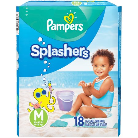 Pampers Splashers Disposal Swim Pants (Choose Size and Count)