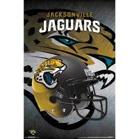 Jacksonville Jaguars Helmet 22'' x 34'' Logo Poster