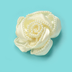 Expo Bridal Rose with Pearl Edging Applique